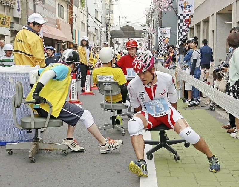 Balapan Kursi Kantor di Jepang